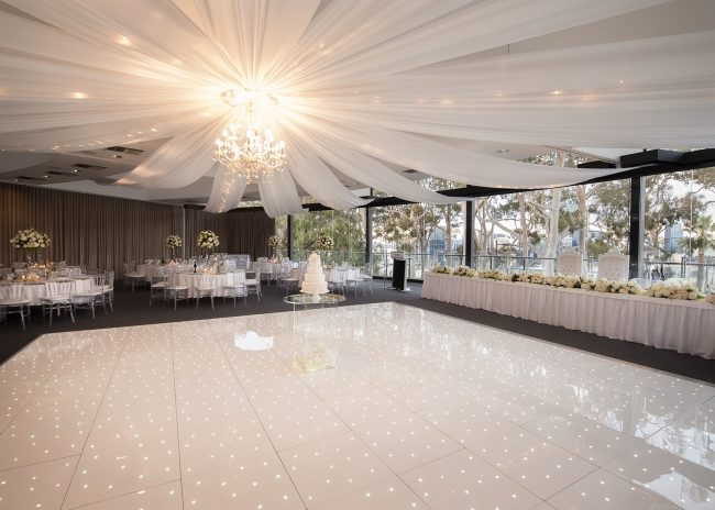 Starlok LEB dance floor used by AM Lighting Ltd