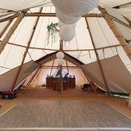 Distressed Oak Multilok Portable Dance Floor