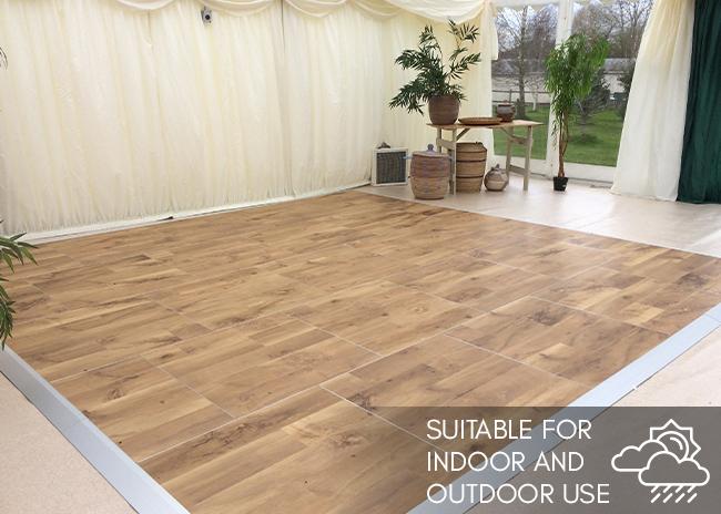 Multilok portable dance floor use indoor or outdoor