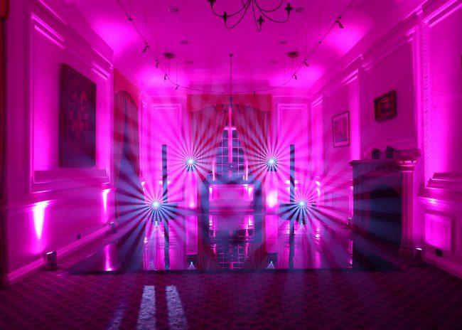 Nightlok is a black acrylic portable dance floor for events