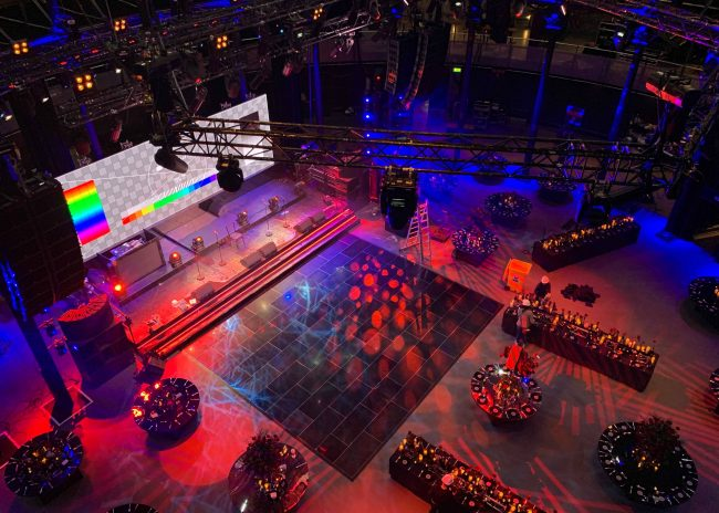 Nightlok is a black acrylic dance floor recommended for night events
