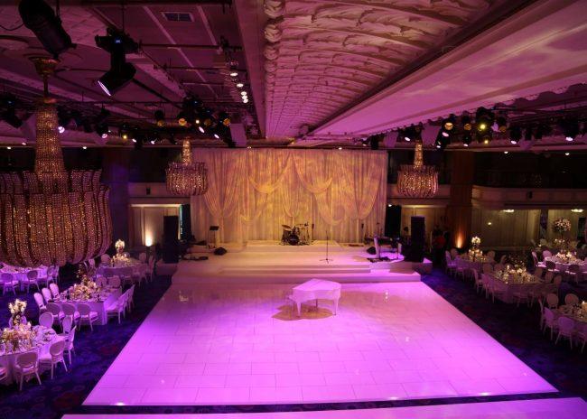 Wedlok acrylic white dance floor used on events