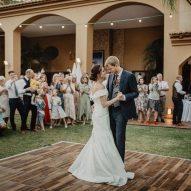 Vintage Pine Portable Floor Multilok for Weddings