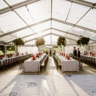 White Washed Oak Portable Dance Floor for weddings