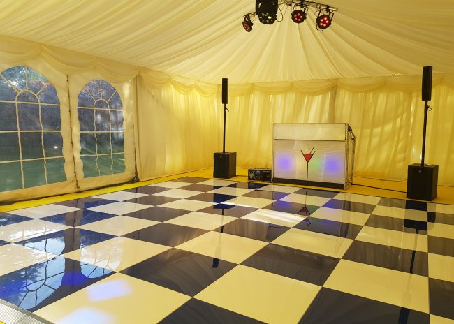 Swaplok colourful dance floor