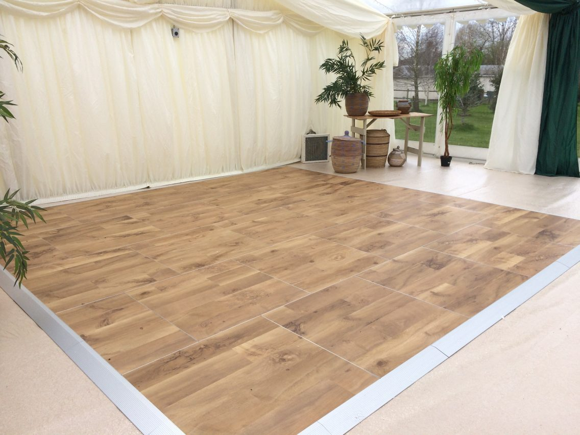 Multilok Auckland Oak Portable Dance Floor - County Marquees Ltd
