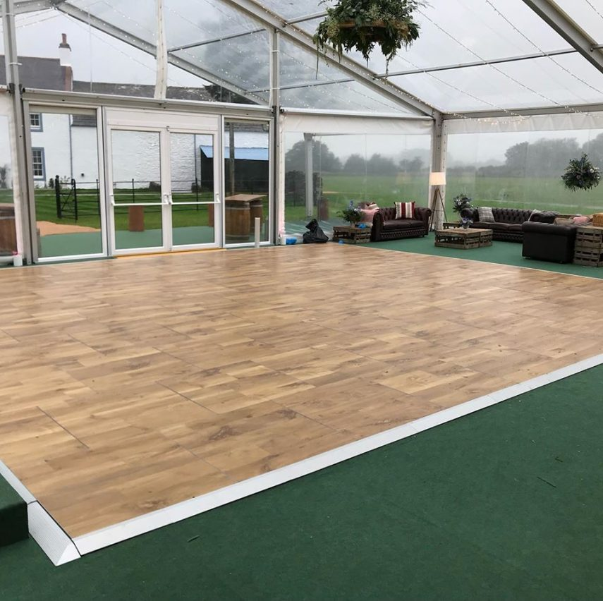 Multilok Auckland Oak Portable Dance Floor - Queensberry Event Hire