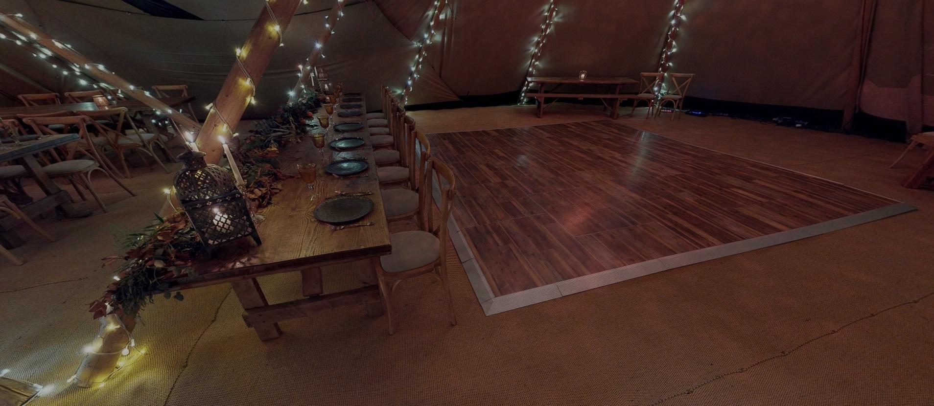 Multilok Vintage Pine Portable Dance Floor - Serentipi