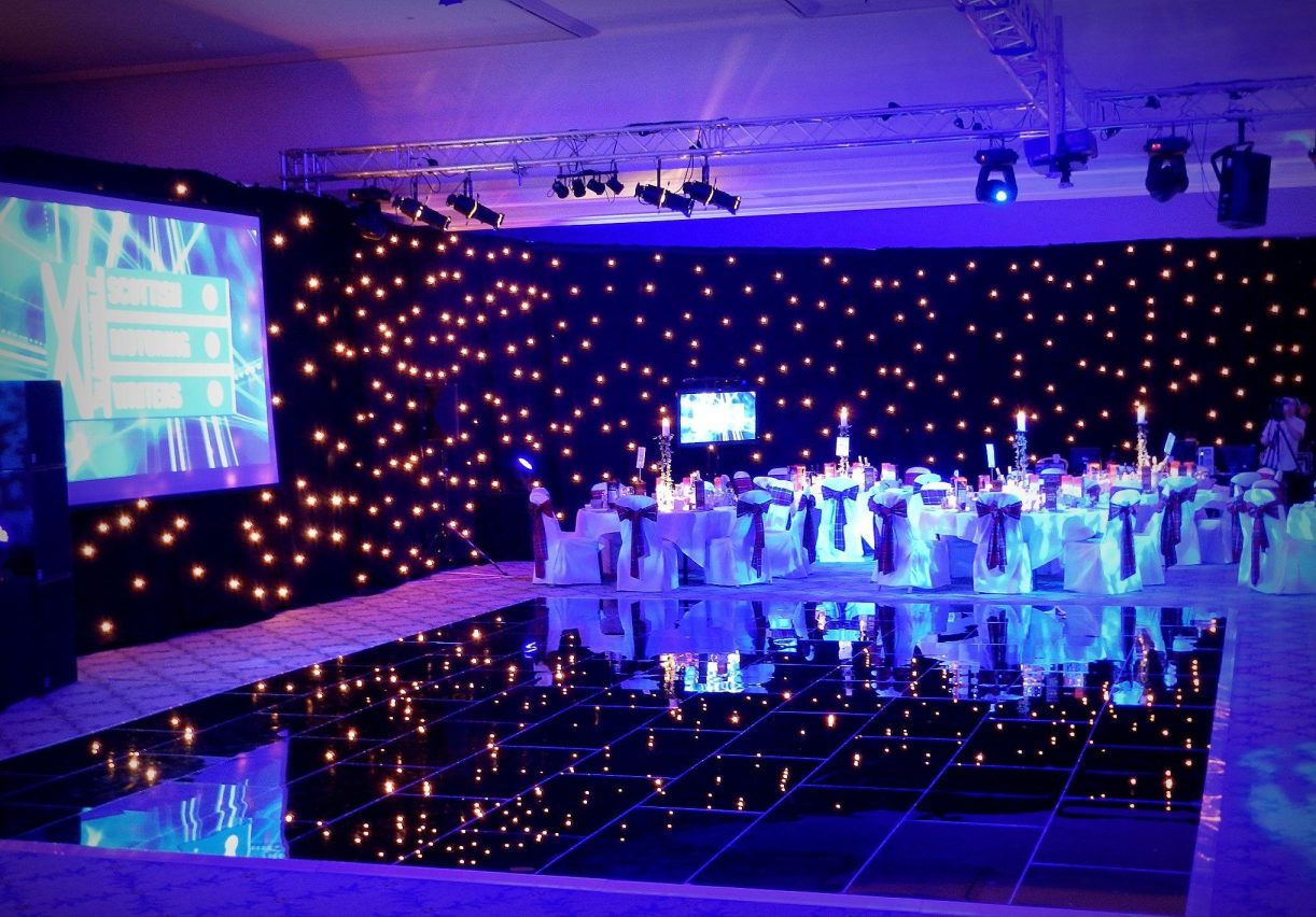 Nightlok Black Acrylic Portable Dance Floor - AM Lighting Ltd