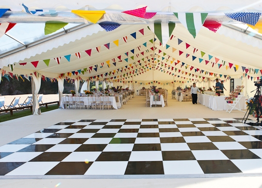 Publok Black and White Acrylic Portable Dance Floor - Hatch Marquee Hire