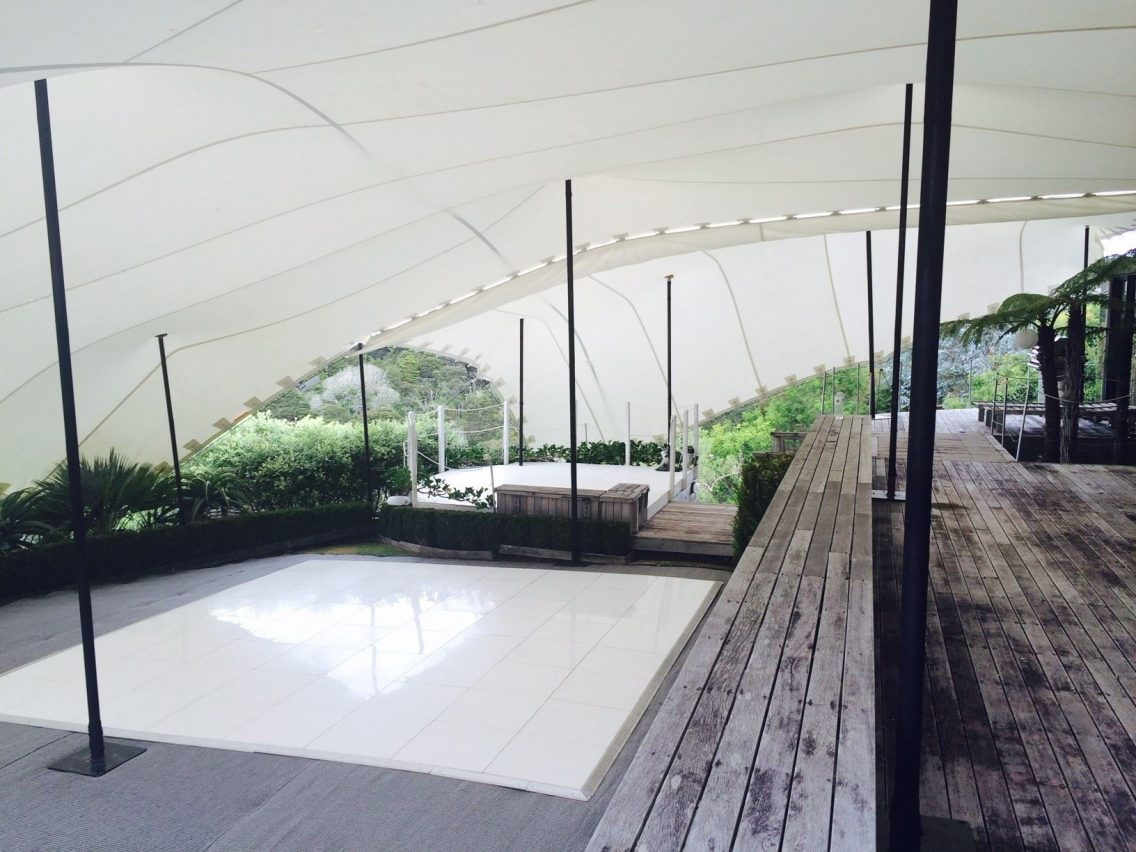 Wedlok White Acrylic Portable Dance Floor - Schupepe Tents