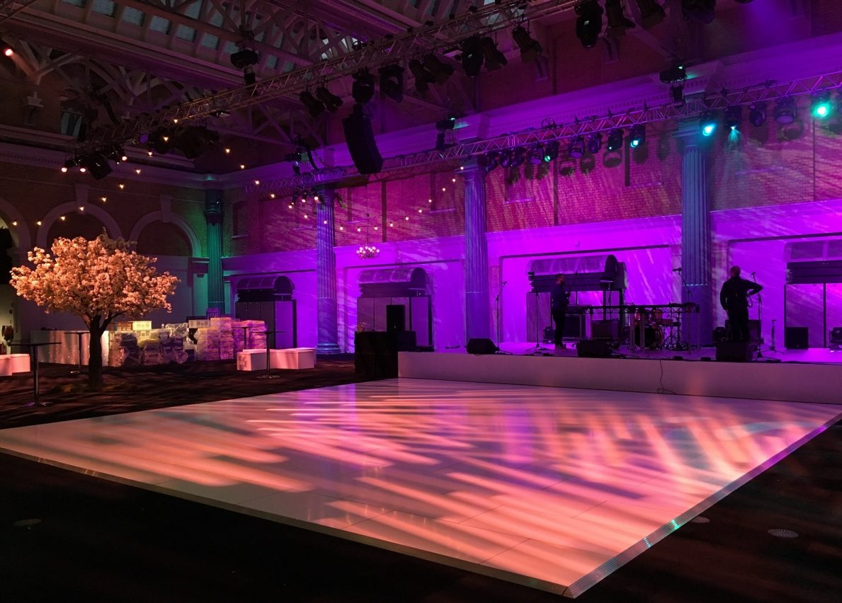 Wedlok White Acrylic Portable Dance Floor - Starlight Dance Floors
