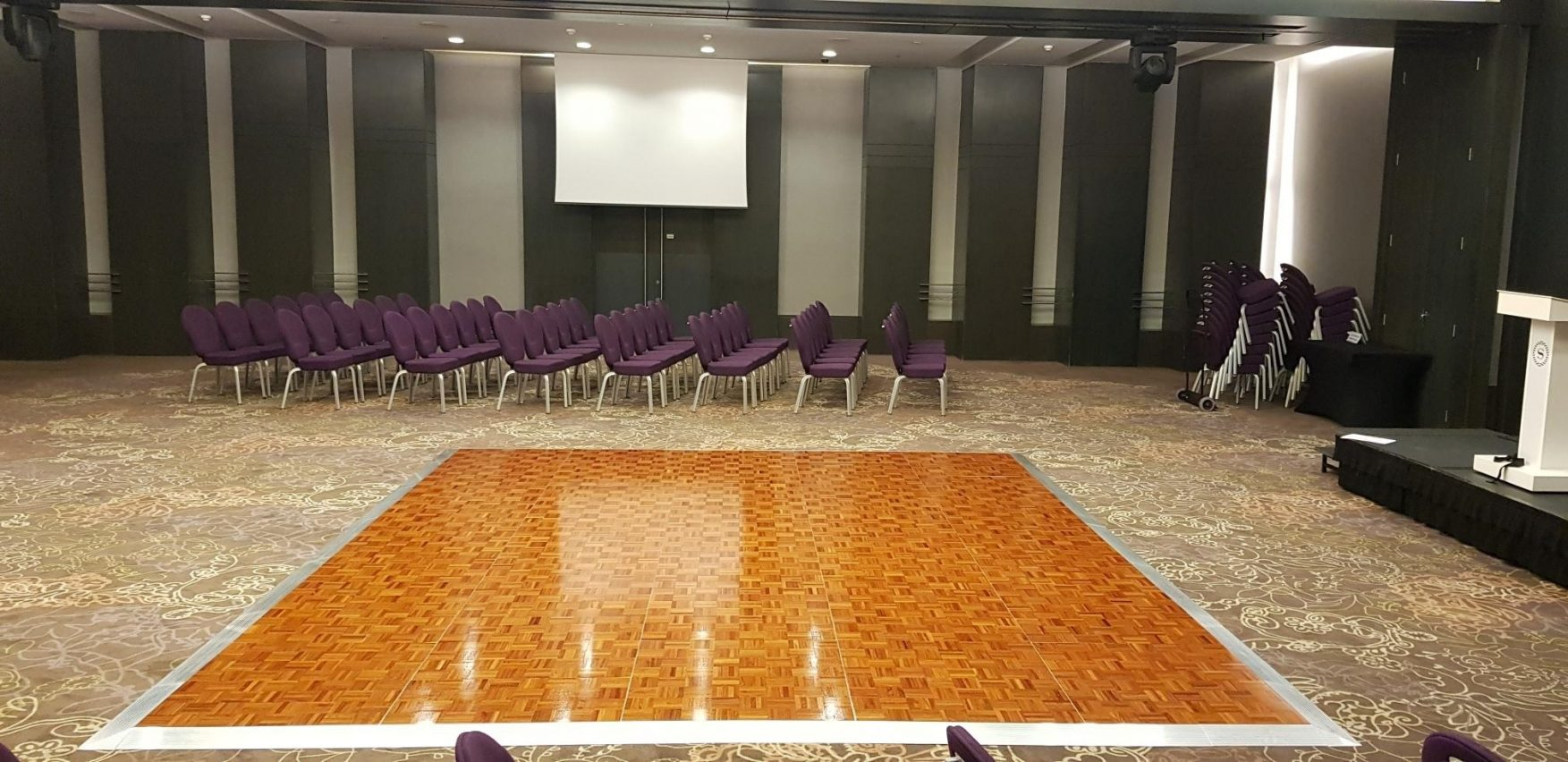 Florlok Jatoba Portable Dance Floor - Sheraton Grand Hotel
