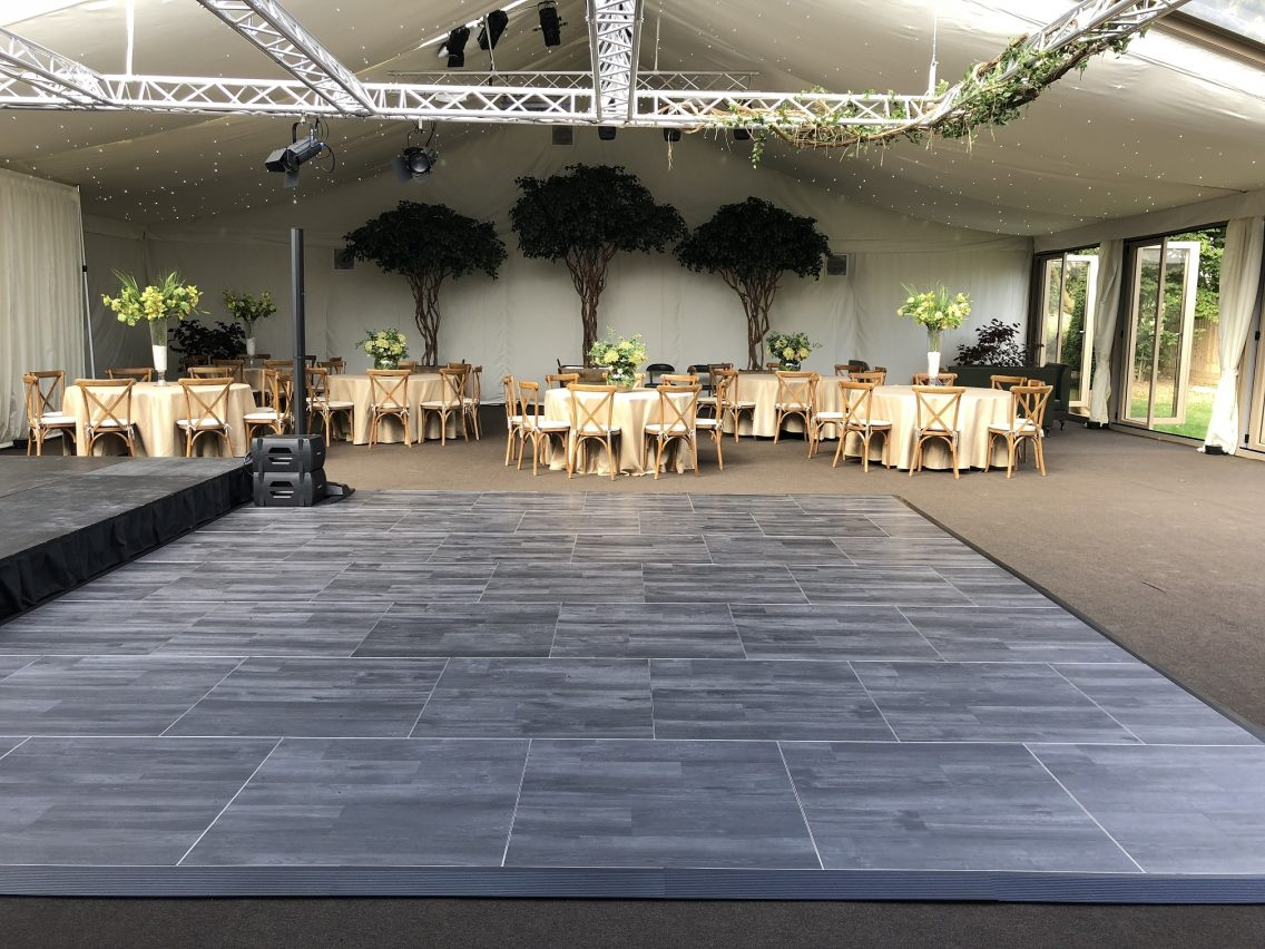 Multilok Ebony Portable Dance Floor - Hurley House Hotels Marquee
