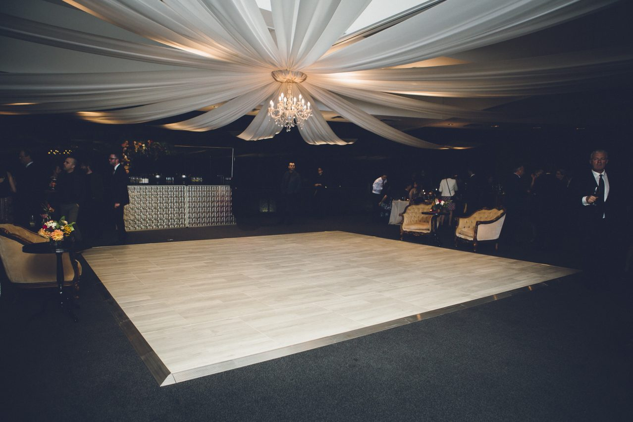 Multilok White Washed Oak Portable Dance Floor - Hilton Surfers Paradise