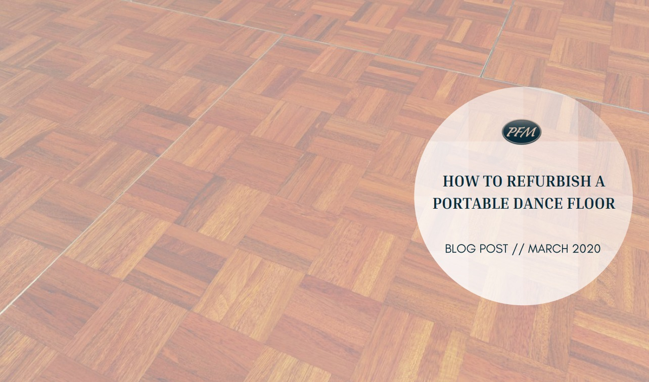 How To Refurbish A Portable Dance Floor