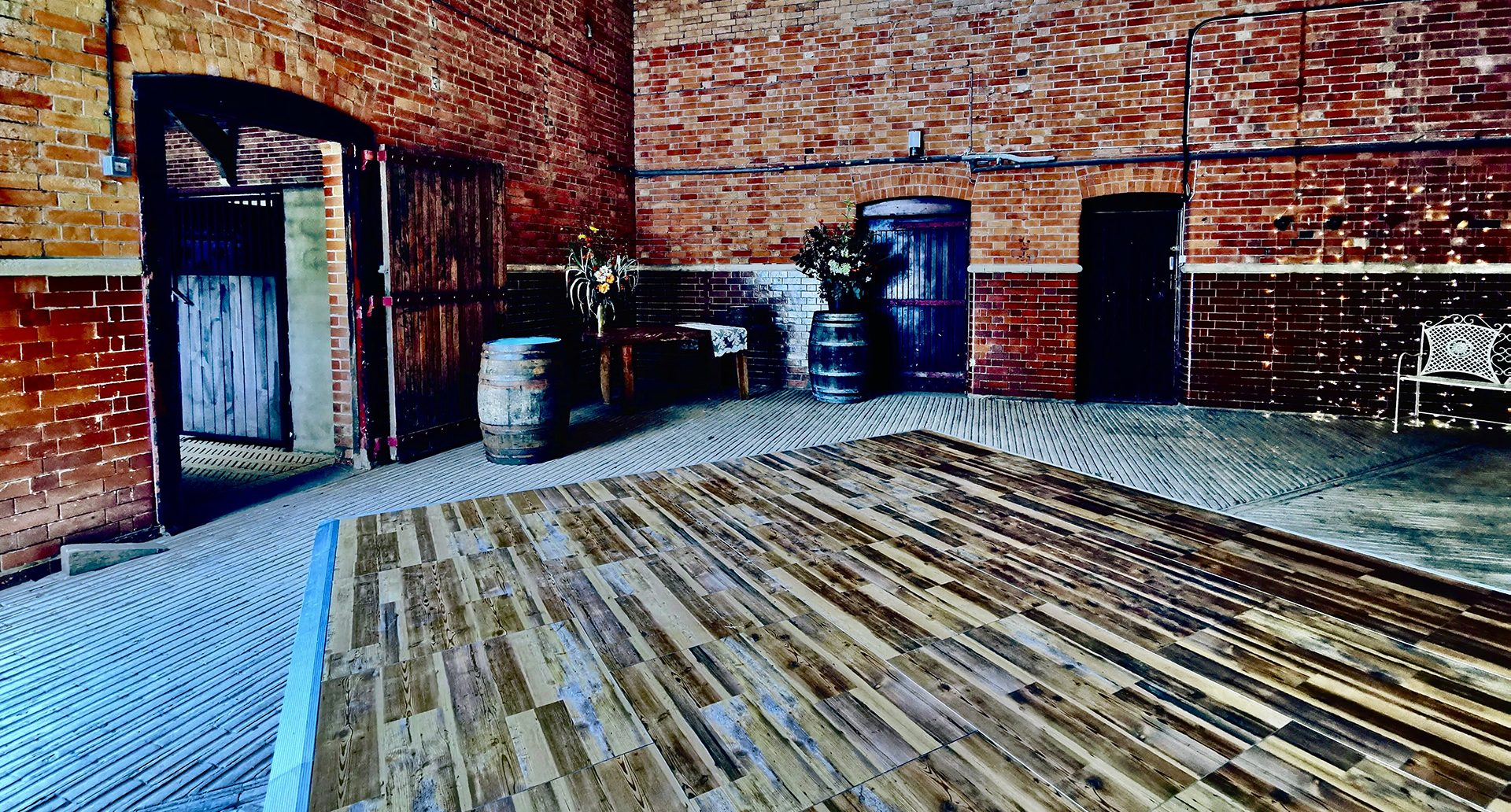 Rustic Portable Dance Floor for Barn Wedding Vintage Pine
